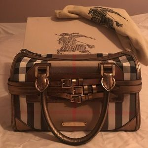 Burberry Check Bowling Bag